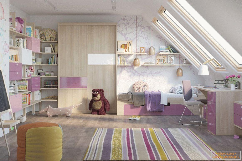 Projekt Sypialni Dla Dziewczynki Pomysły Wnętrza