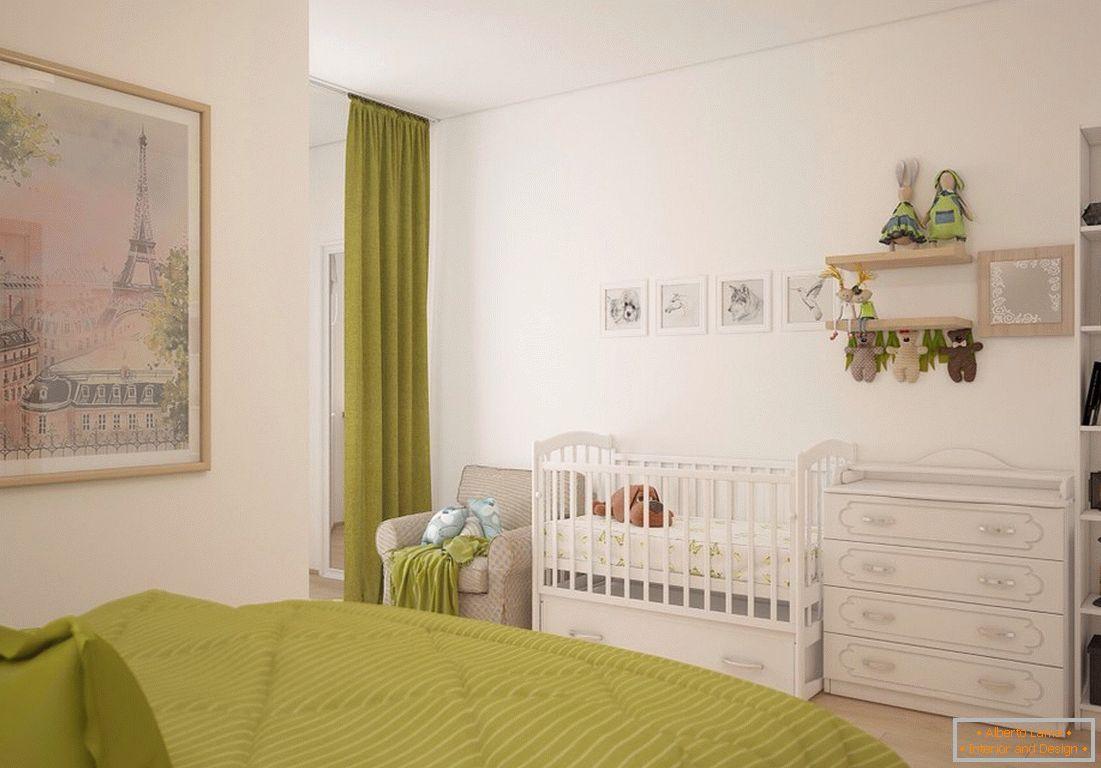 Projekt Sypialni Z łóżeczkiem 50 Zdjęć Pomysłów
