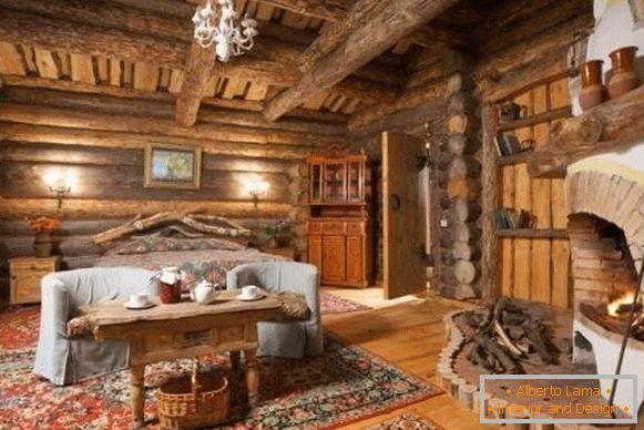 Fantastyczny Wnętrze domu drewnianego - 30 pięknych i stylowych zdjęć LR41