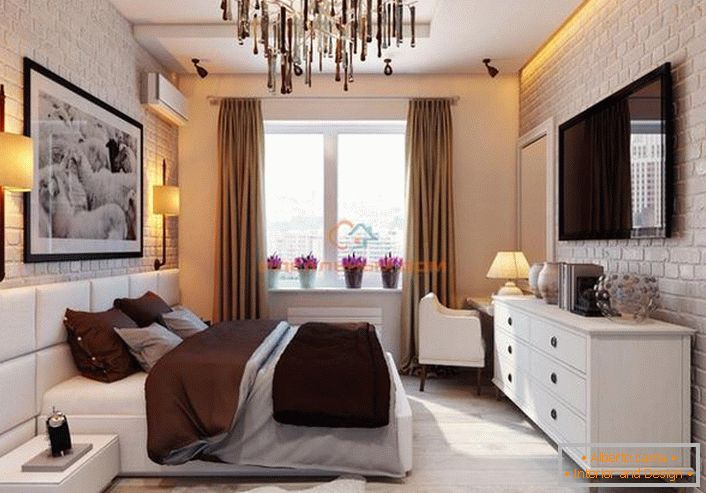 Kreatywne Wnętrze Sypialni W Stylu Loftu 52 Wnętrze