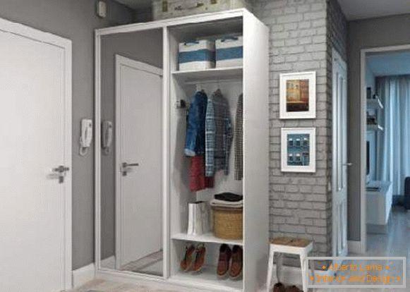 Modernistyczne Korytarze na korytarzu z garderobą - 30 zdjęć we wnętrzu WK37