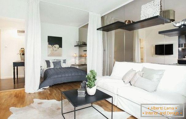 Nowoczesna Sypialnia Salon Planowanie Wyposażenie I